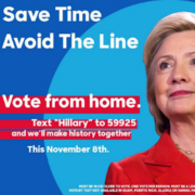 A fake ad posted by IRA accounts in the lead up to the 2016 election that urged Americans to vote by text message