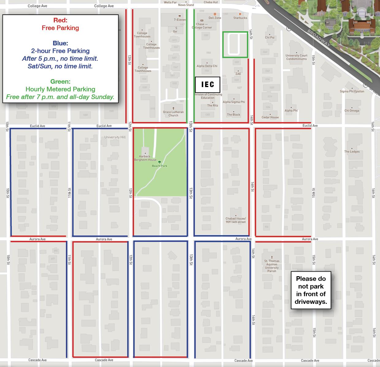 IEC Parking Map
