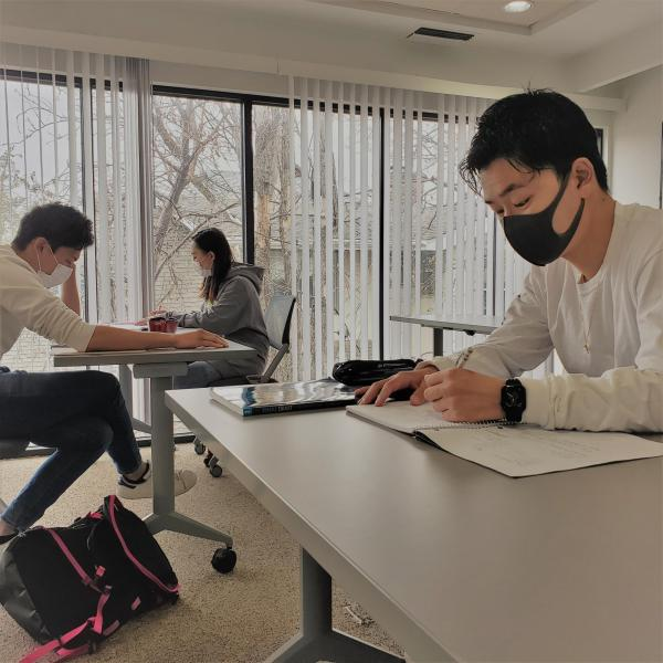 IEC students studying