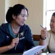 CU Employee Students talking