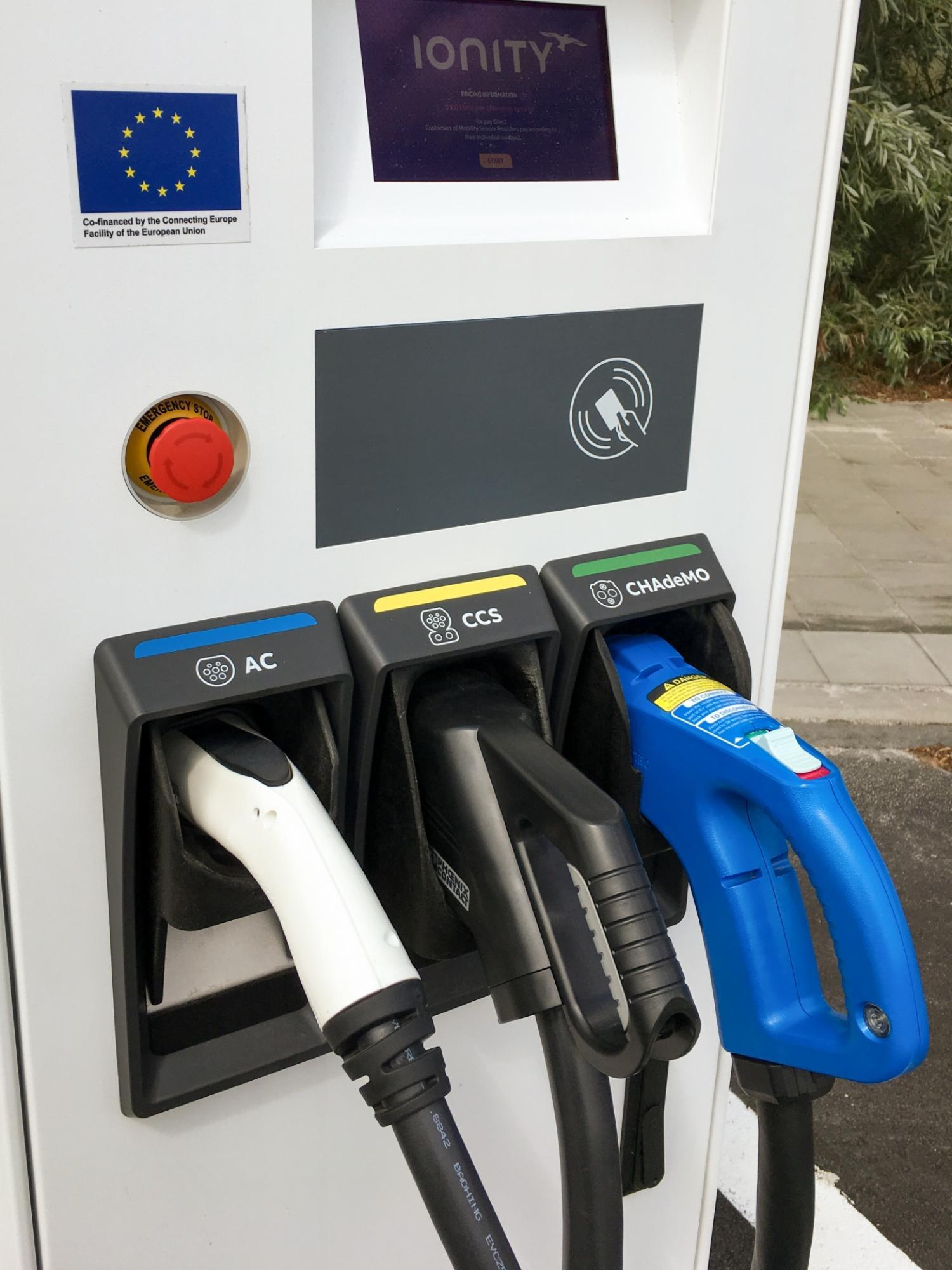 European car charging port