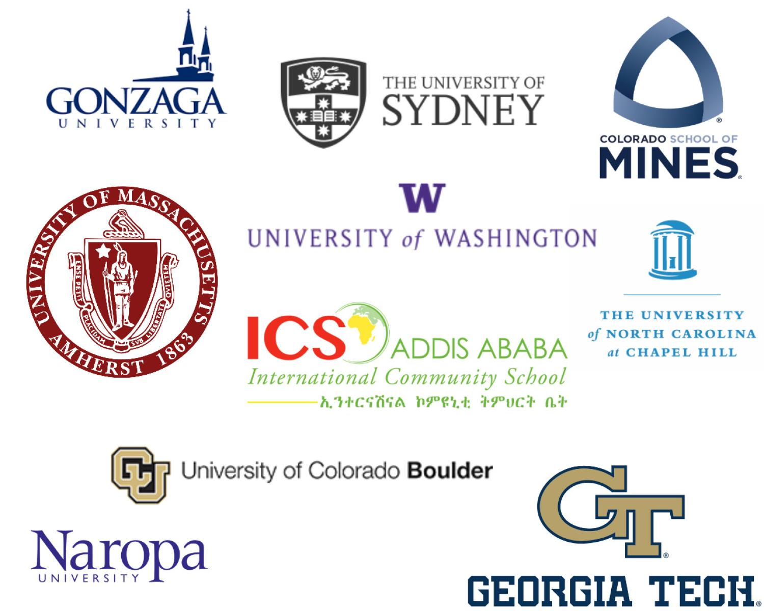 Colleges and universities that host MCGE alumni