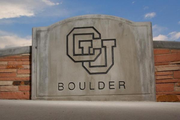 CU Boulder Entryway Sign
