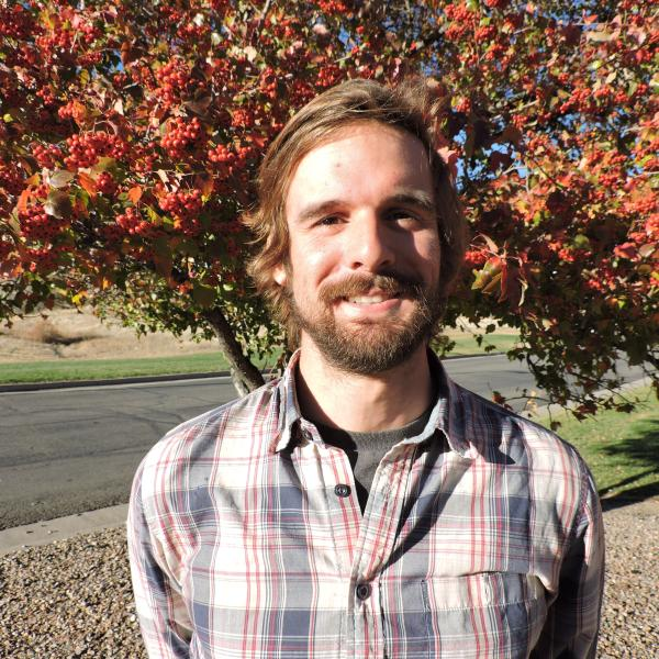Michael with fall colors in background