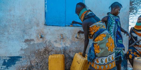 Women getting water