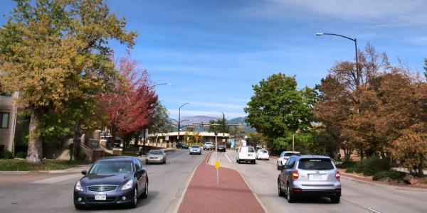 Cars on the streets of Boulder