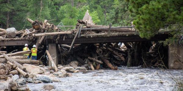 The aftermath of July 2021 floods in Poudre Canyon, west of Fort Collins