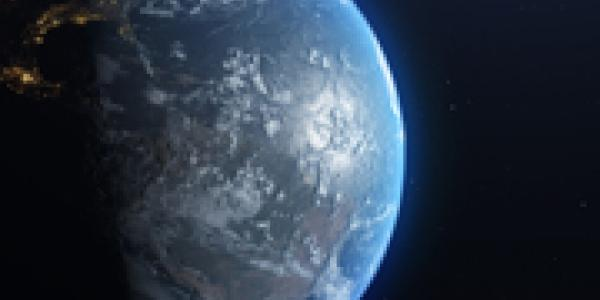 Stock photo of the earth from space.