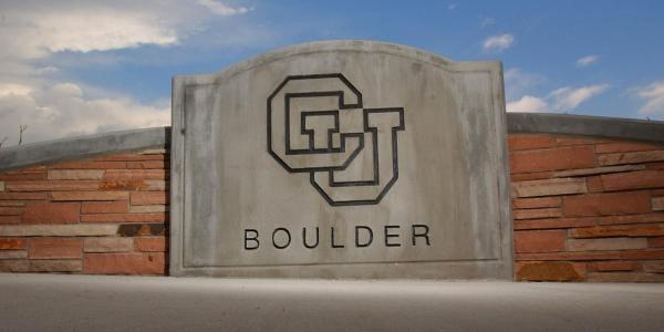 CU Boulder Entryway Sign
