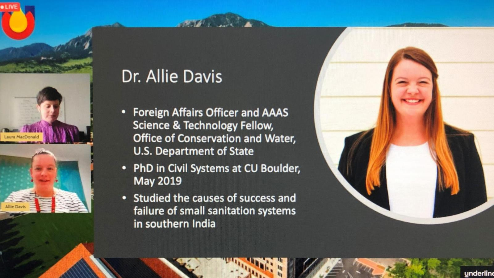 Dr. Allie Davis is named the Global Engineering Student Award Recipient