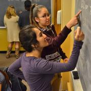 Students studying chemistry in the Student Academic Success Center, an inclusive learning community that serves first-generation, under-resourced, and other underrepresented or non-traditional learners at CU Boulder.