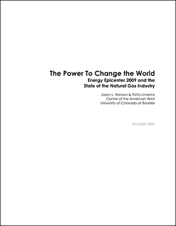 Energy Epicenter 2009 and the State of the Natural Gas Industry