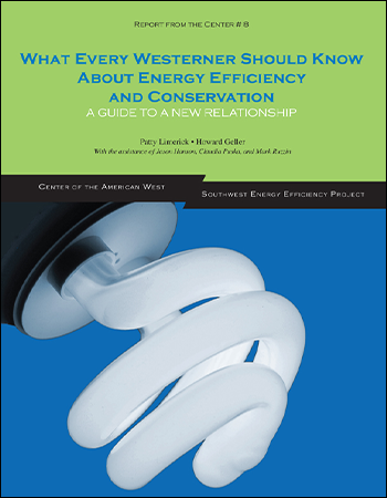 What Every Westerner Should Know About Energy Efficiency and Conservation