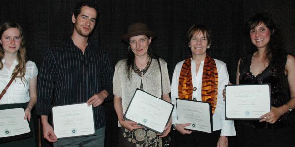 2009 Thompson Writing Award Winners