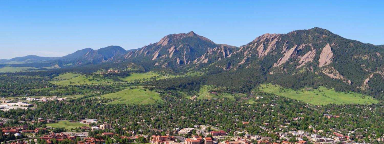2021 aerials of Boulder and CU Boulder