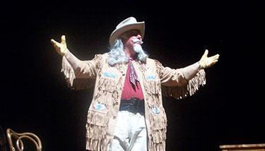 Bill Mooney portraying frontier showman William F. Cody