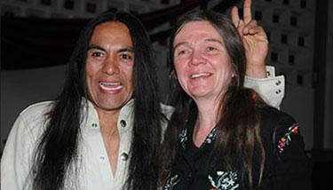 Robert Mirabal and Patty Limerick