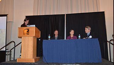 Patty Limerick, Joe Ryan, Debra Higley, and Will Fleckinstein
