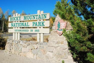 Rocky Mountain National Park Entrance Sign