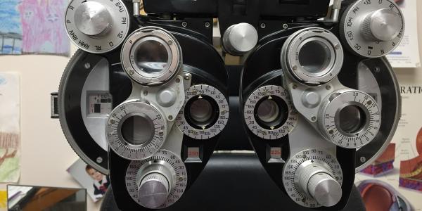 Eye exam machine.