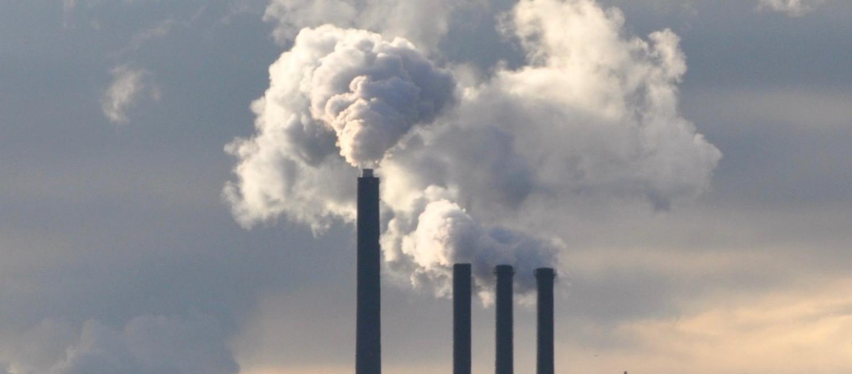 A power plant blows smoke in Copenhagen