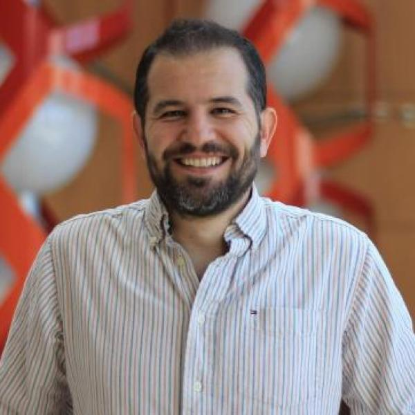 Portrait of Halil Aydin, assistant professor of biochemistry.