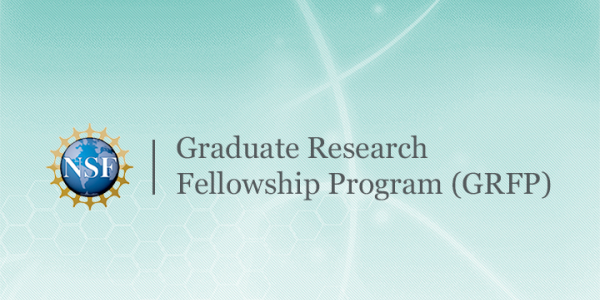 """NSF logo graphic with the text """"Graduate Research Fellowship Program"""""""