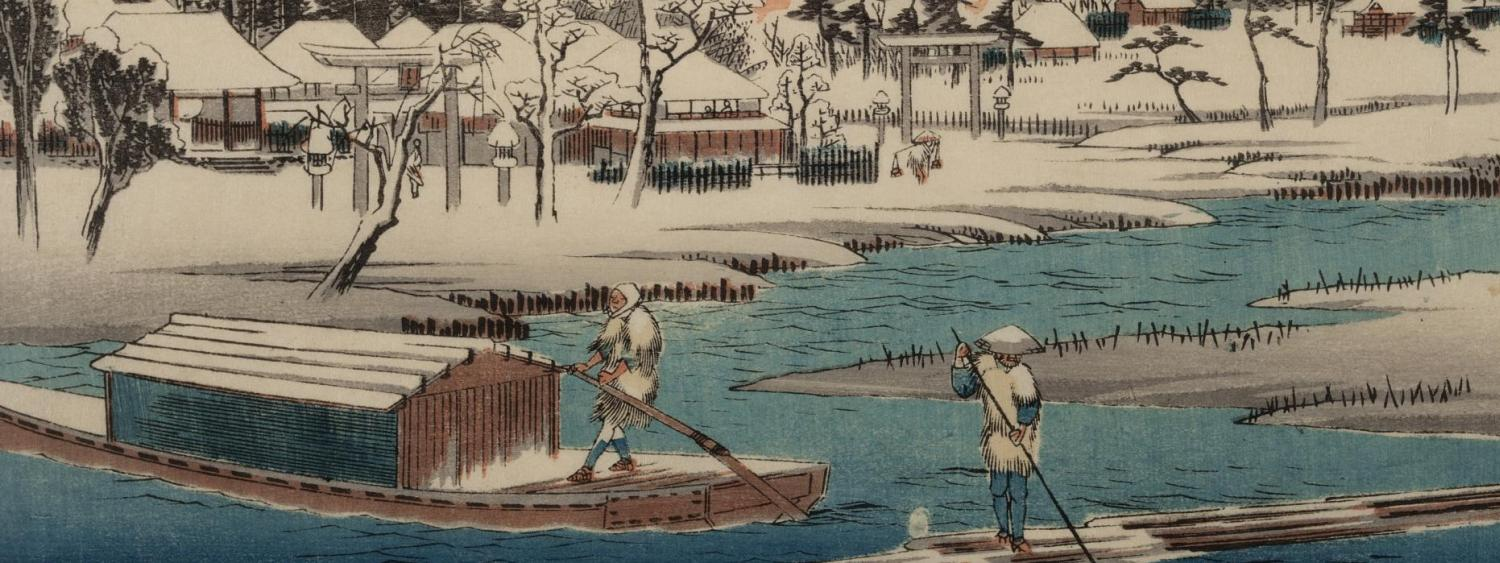 Clear Weather After Snow at Masaki woodcut, by Ando Hiroshige