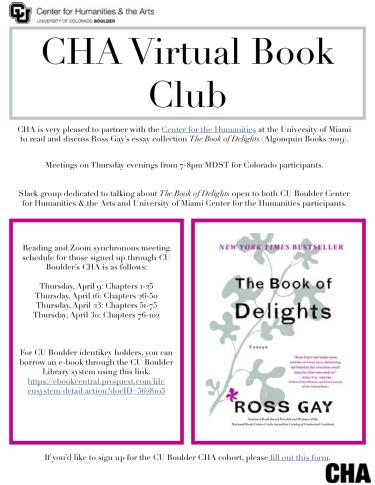 Flyer with book club information