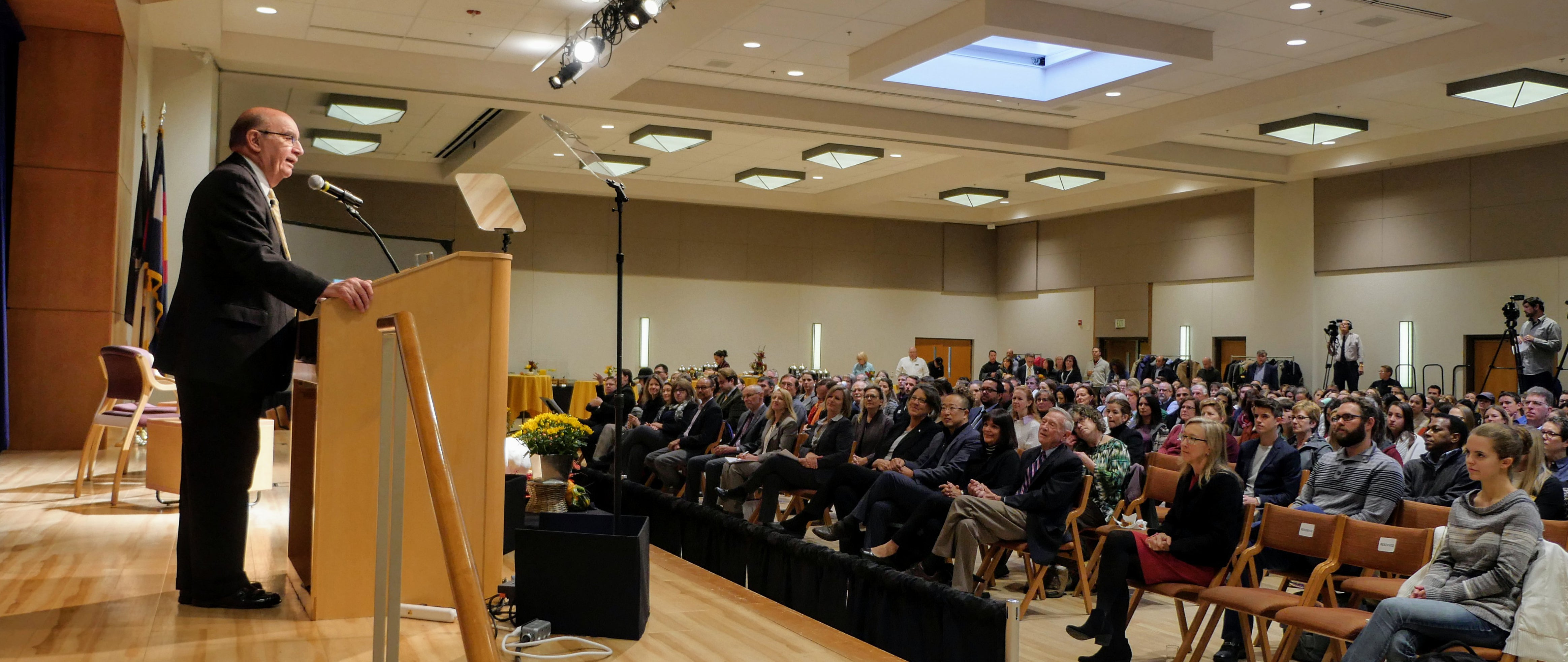 Chancellor Phil DiStefano gives his State of the Campus address for 2018
