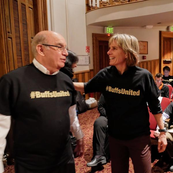 Chancellor DiStefano and Boulder Mayor Suzanne Jones