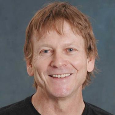 John Falconer in a black shirt