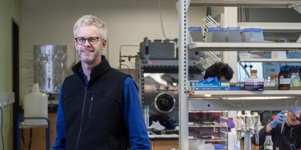 Professor McGehee in his lab