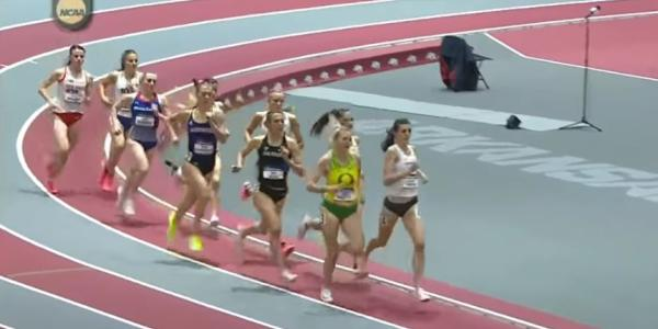 Sage Hurta and competitors running at the 2021 Women's Mile event