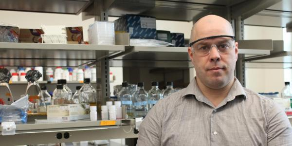 Associate Professor Timothy Whitehead in the lab
