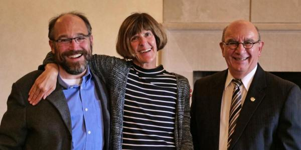 Professor Janet de Grazia with Ken Anderson and Philip DiStefano
