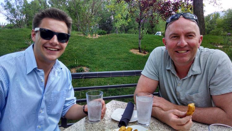 Sam Torrance and Brian Kihn