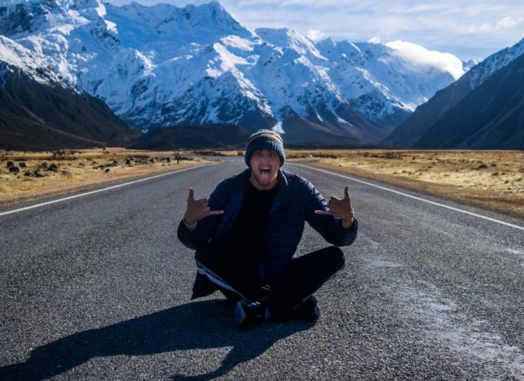 Ku Thomas at Aoraki/Mount Cook in New Zealand.