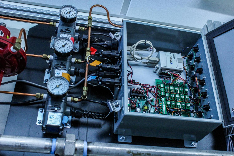 An open heat exchanger case.