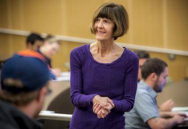 Janet deGrazia teaching a class