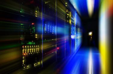 Server in a dark room