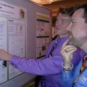 Aidan Coffey presenting poster