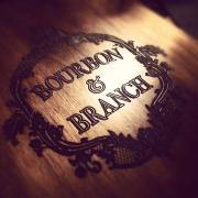Bourbon and Branch logo