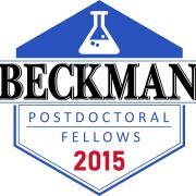 Arnold O Beckman Postdoctoral Fellowship logo with beaker and founding year 2015