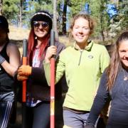 Students working on trail maintenance