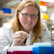 Kristi Anseth in the lab