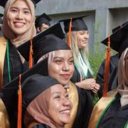 Recent CU grads pose for group photo