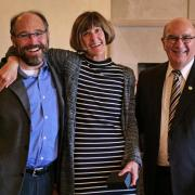 Janet deGrazia with Ken Anderson and Chancellor Phil DiStefano