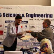 Tariq Jamil accepts his award for Best Poster.