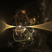A graphic rendering of quantum level objects